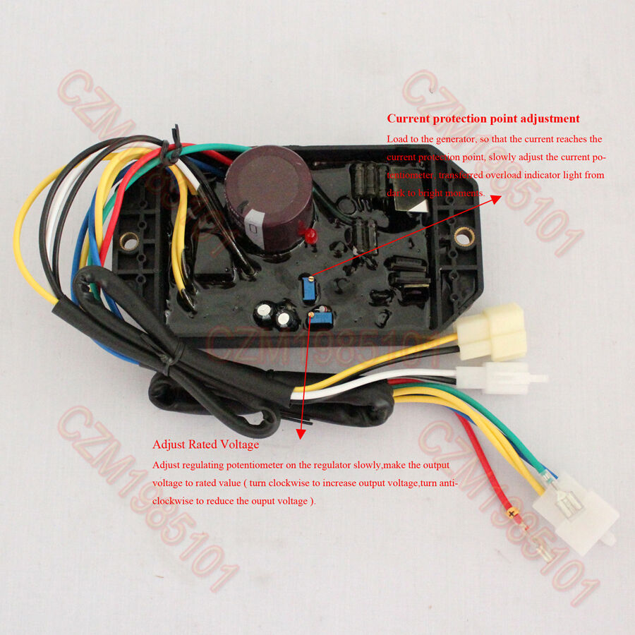 Voltage Regulator Ply Davr 50s Avr 10 Wires For Kipor Generator Parts Of Circuit Diagram Buy 1phase 5kw