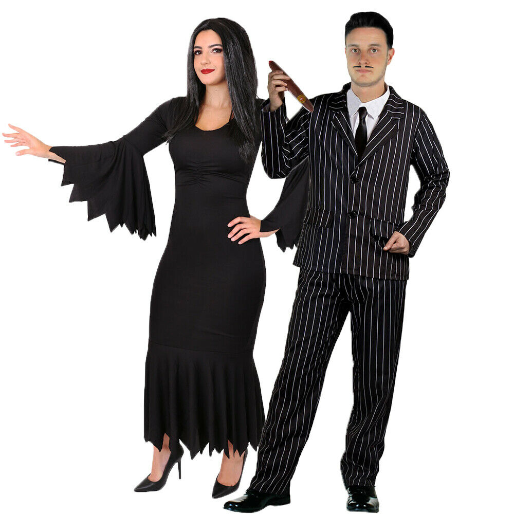 couples halloween gothic fancy dress costumes mr and mrs tv film