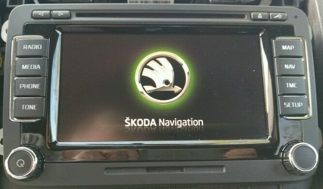 neu skoda columbus rns 510 dab navigation hdd ssd. Black Bedroom Furniture Sets. Home Design Ideas