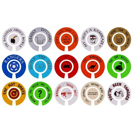 img-ACCLAIM Self Adhesive Comic Bowls Bowlers Stickers Sold In Sets Self Adhesive