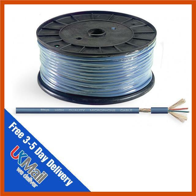 Stagg ROLL M60/2 BH Blue Microphone Cable 100m Drum 5414428157898 | eBay