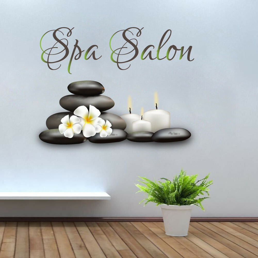 Spa Salon Wall Decals Full Color Natural Beauty Salon