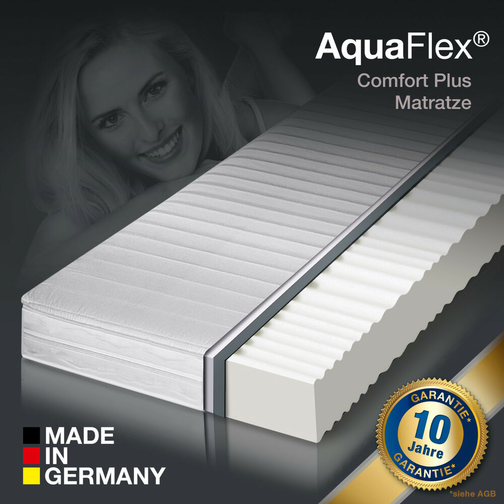 aktion 7 zonen aquaflex memorylux comfort plus marken matratze 90x200 h3 ebay. Black Bedroom Furniture Sets. Home Design Ideas