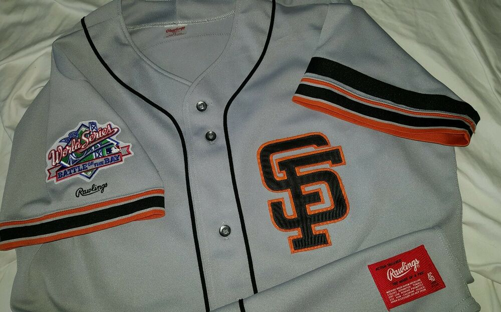 8e071b49491 Will Clark San Francisco Giants 1989 World Series Authentic Rawlings Jersey  Sz46