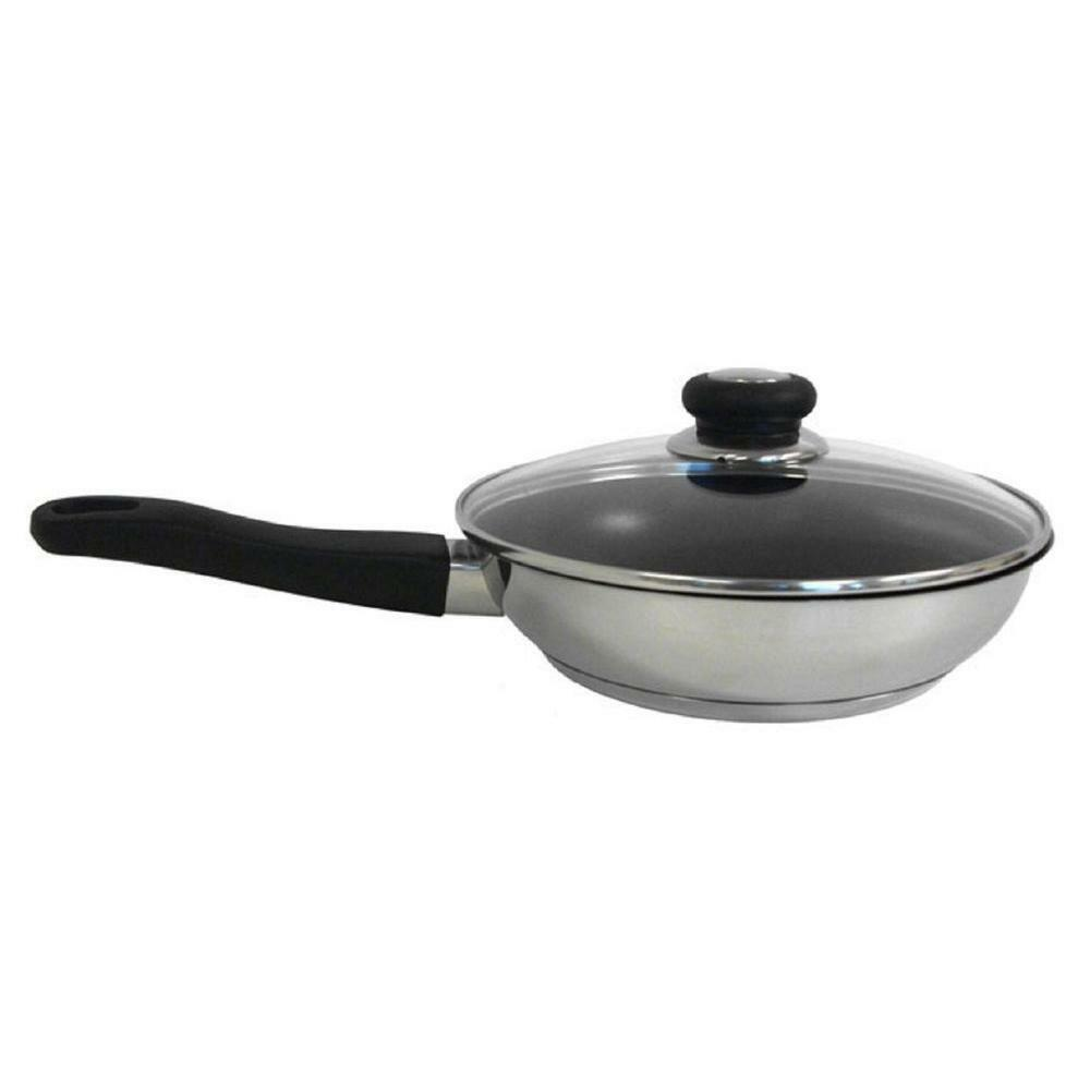 11 Quot Nonstick Stainless Steel Covered Fry Pan Excalibur