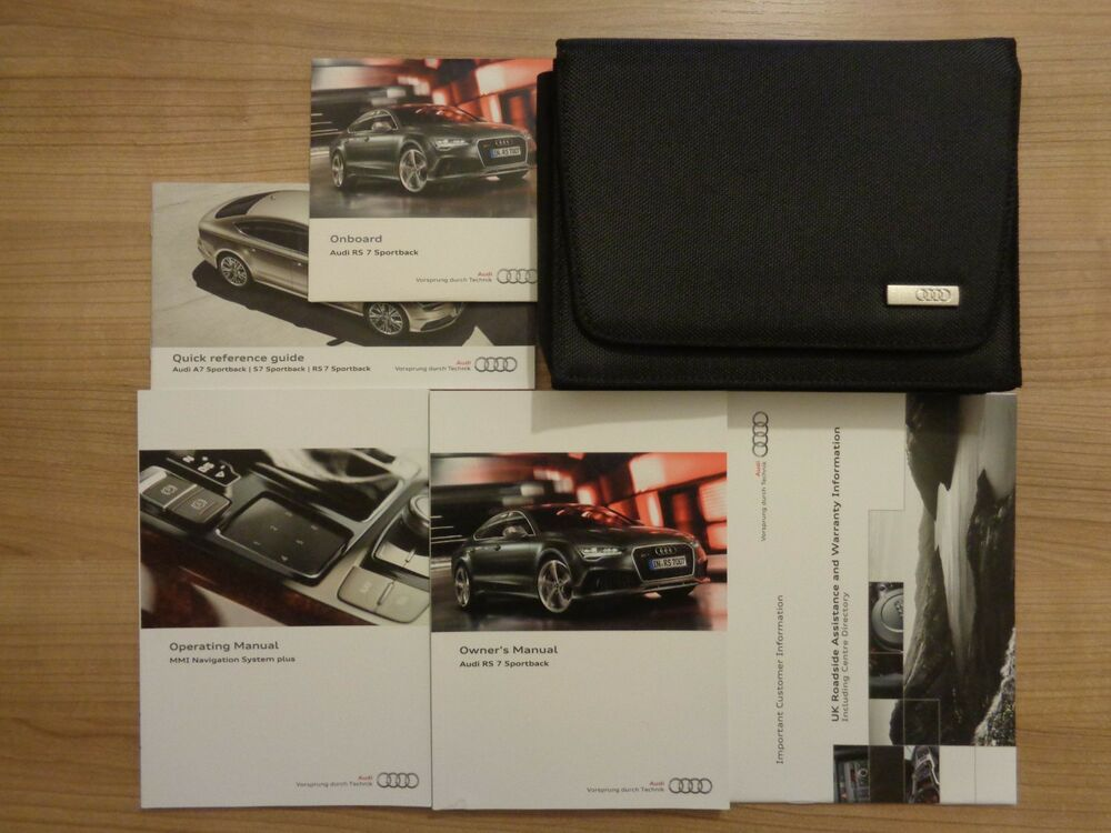 audi rs 7 sportback owners handbook manual and pack 13 17 ebay rh ebay ie