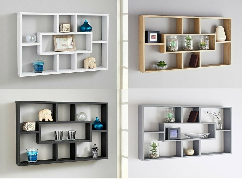 Stylish Space Saving Floating Wall Shelves Display Shelf