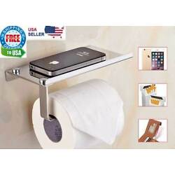 Kyпить Toilet Paper Holder with Mobile Phone Storage Shelf Holders Wall Mounted Rack на еВаy.соm