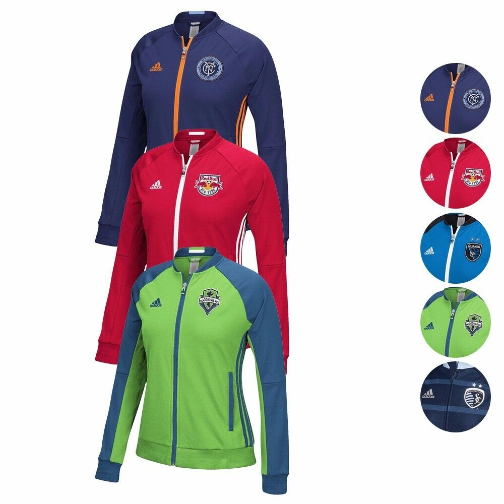 9b13cbaa211f Details about MLS Adidas Anthem Full Zip Track Jacket Collection Women s