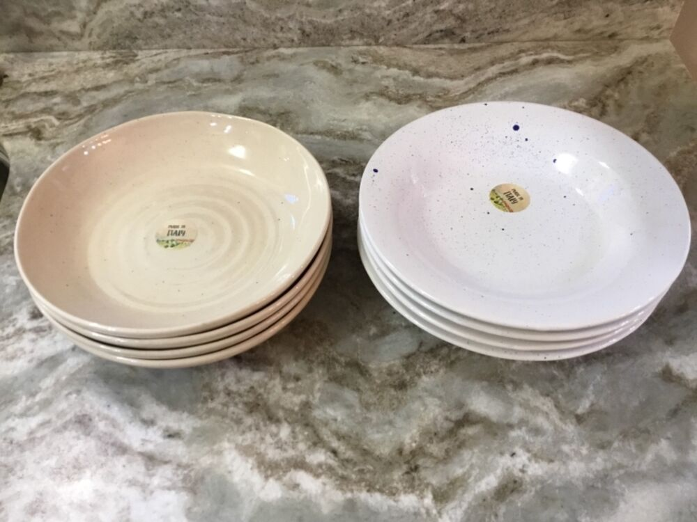 Large Pasta Bowls. Tan Speckle Or Blue Speckle. Set Of 4. Ceramisia ...