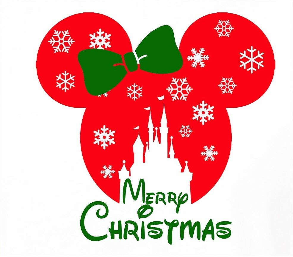 Disney christmas castle snowflake minnie mouse t - Minnie mouse noel ...