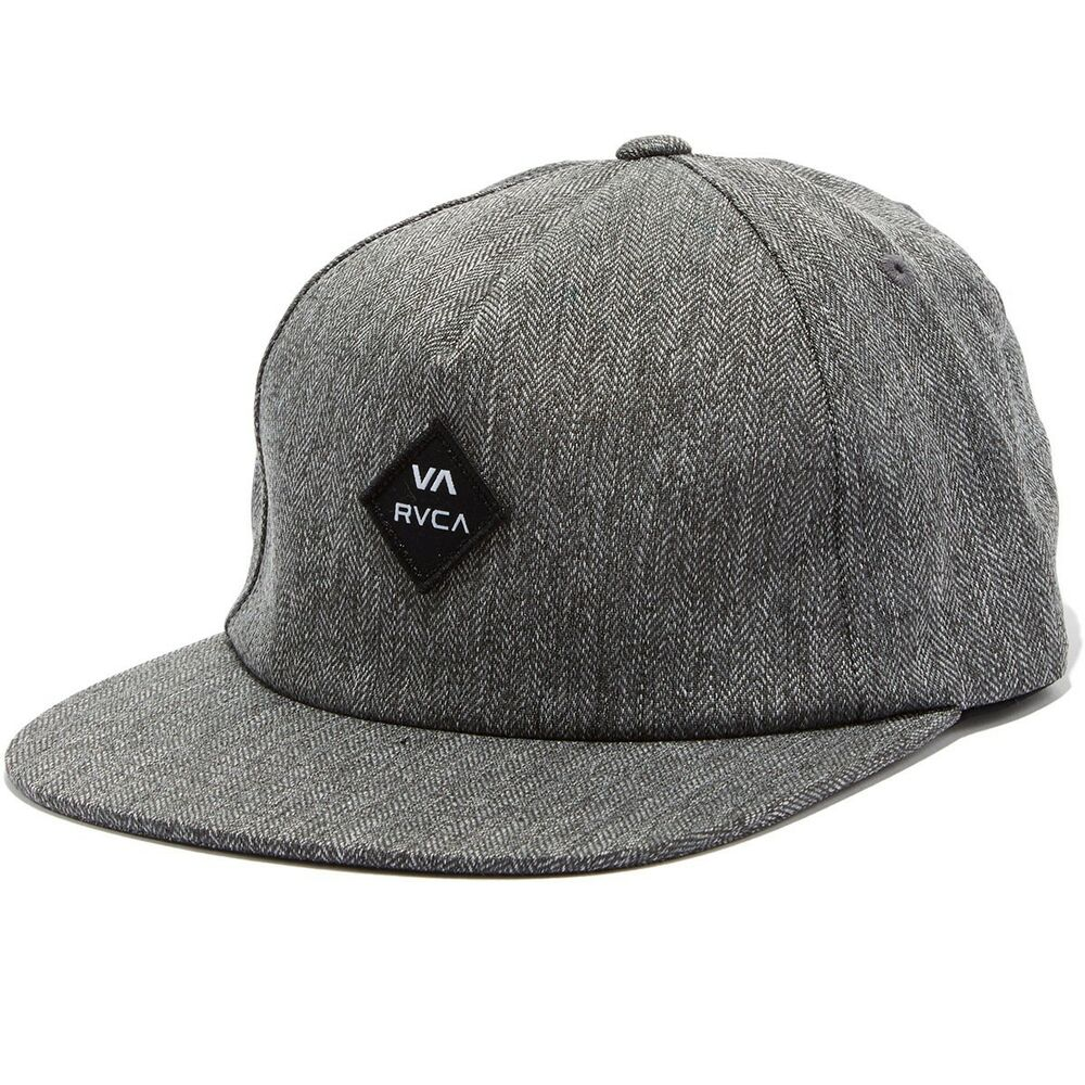 310710e531a Details about RVCA Sile Mens Snapback Hat  NEW 5 Panel VA RUCA Charcoal Heather  Grey FREE SHIP