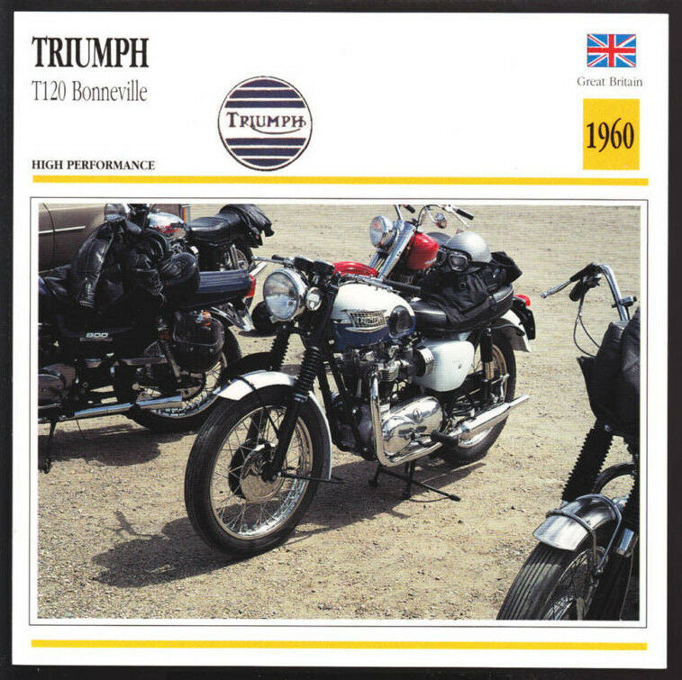1960 Triumph T120 Bonneville 650cc Bonnie Motorcycle Photo Spec