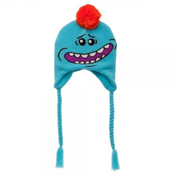 Details about Mr. Meeseeks Rick and Morty Laplander Beanie Hat Winter Warm  Head Face Blue NEW b3cc4246082