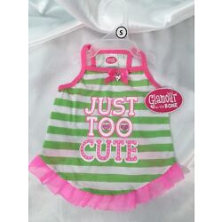 Glamour To The Bone ''Just Too Cute'' Dog Pet  Dress Size Extra Small NWT