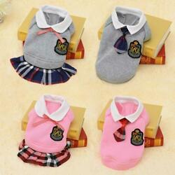 Dog Clothes Costume Outfit School Style Pet Cute Chihuahua Coats For Small Puppy