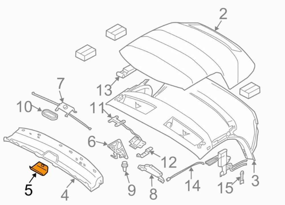 Genuine Bmw Z4 Windshield Frame Center Cover Convertible 03 08 Oem