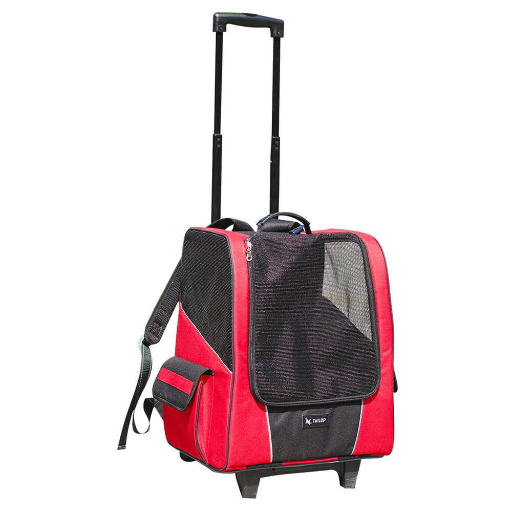 d5006fd7335 Details about Portable Pet Dog Cat Animal Trolley Carrier Airline Travel  Backpack Red