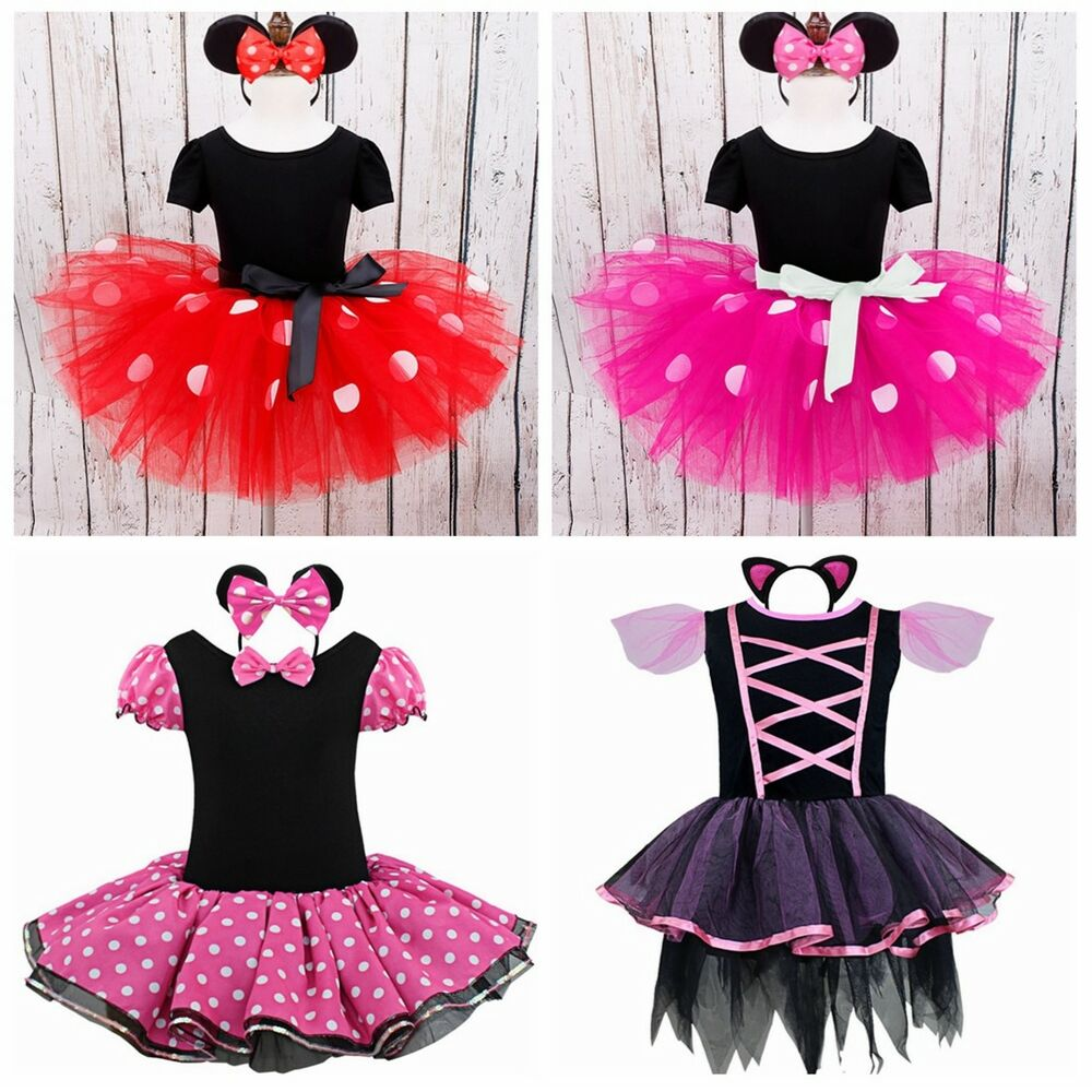 7eca38f07 Details about Baby Kids Girls Minnie Mouse Birthday Party Princess Costume  Ballet Tutu Dress