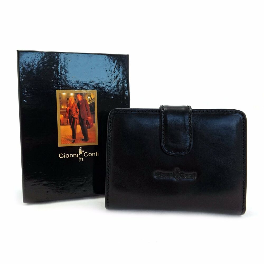 c8172ff2ded Details about Gianni Conti Leather Purse - Style: 9408020 - Italian leather  - BNWT - Black