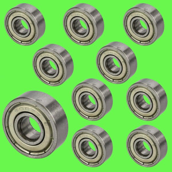 10 Kugellager 627 2RS 7 x 22 x 7 mm