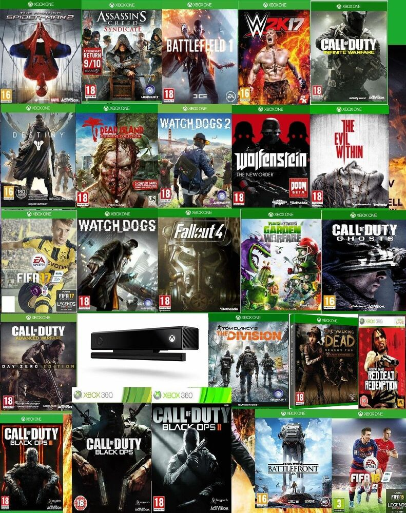 All Games For Xbox 1 : Xbox one game bundle all games you need for