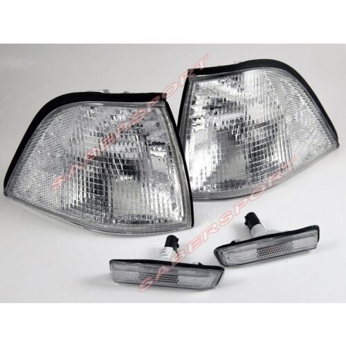pair-clear-corner-signal-sidemarker-lights-9799-bmw-e36-coupe-convertible