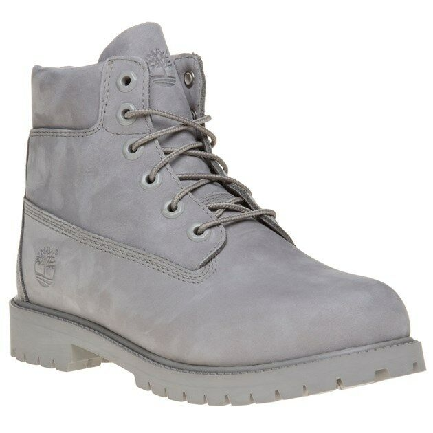 Details about New Boys Timberland Grey 6` Classic Nubuck Boots Lace Up 2fd118972