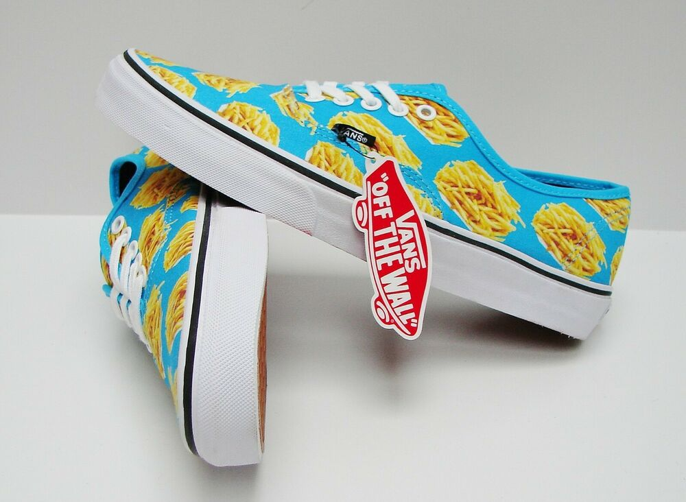81cc60f57f Details about Vans Authentic Late Night Blue Atoll Fries VN-0004MKIFB Men s  size  10.5