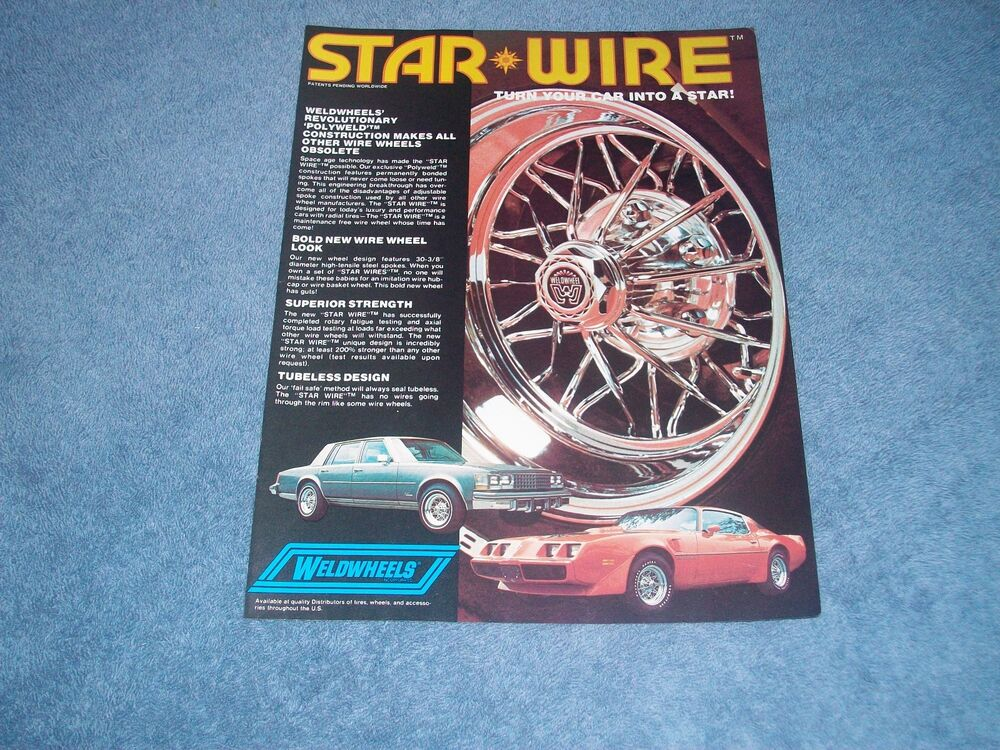 1979 WeldWheels Star Wheel Vintage Ad \