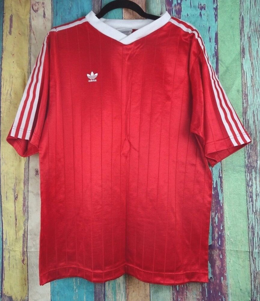 Vintage ADIDAS Mens Sz XL Jersey Shirt Red USA 80 s 90 s  7c18b6c96