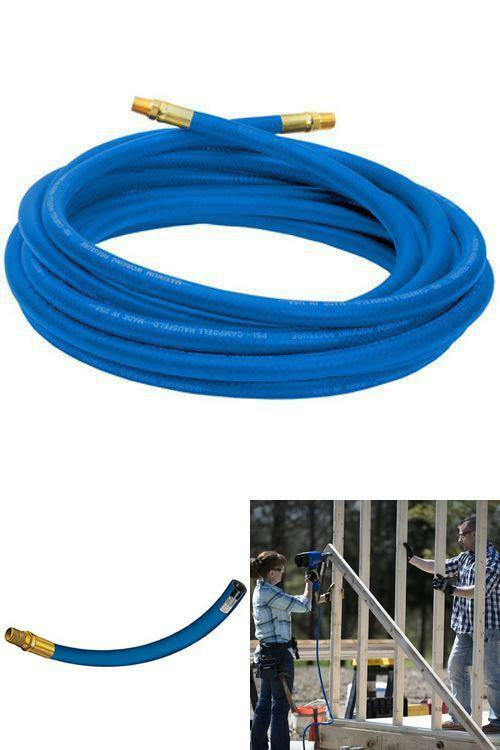 De S About 25 Foot Air Hose 3 8 Inch Pvc Non Marring 300 Psi Compressor Garage With Br