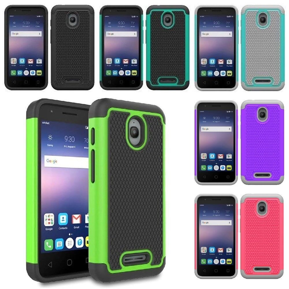 best service a7f61 9903f For Alcatel Pixi Bond / Pixi Avion / Alcatel Dawn / Ideal Hybrid Grid Armor  Case | eBay