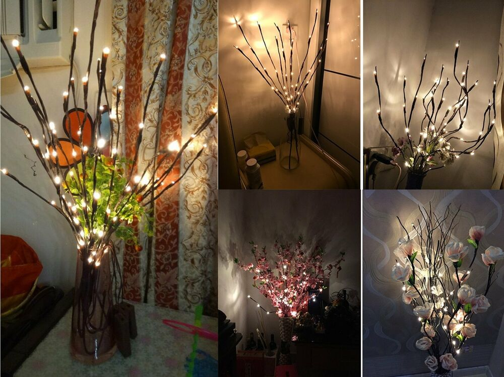 2 Led Branches Battery Power Decorative Lights Twig Light