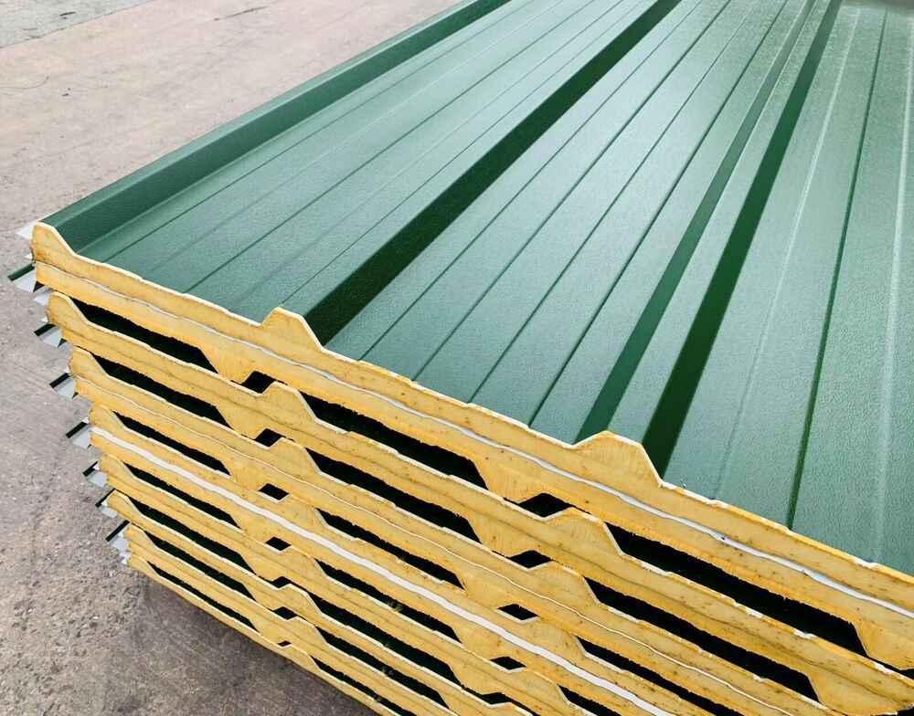 Insulated Composite Metal Roof Sheets Steel Corrugated