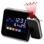 Digital Weather LCD Snooze Projection Projector Alarm Clock with LED Backlight