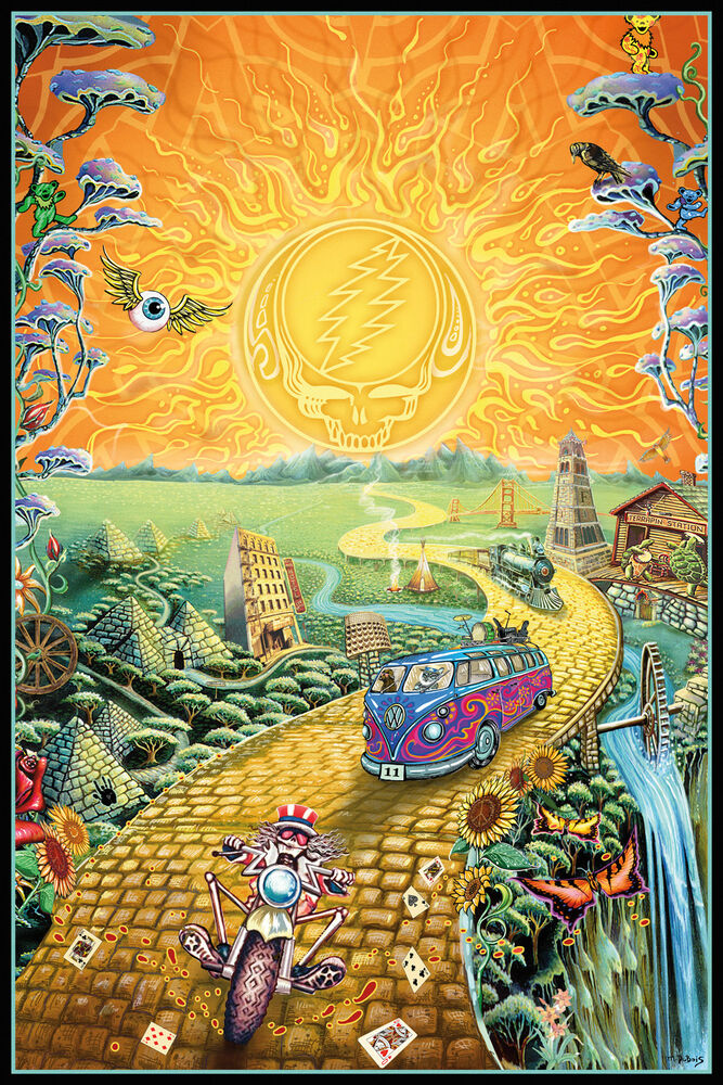 GRATEFUL DEAD - GOLDEN ROAD POSTER 24x36 - MUSIC GARCIA 241415 | eBay