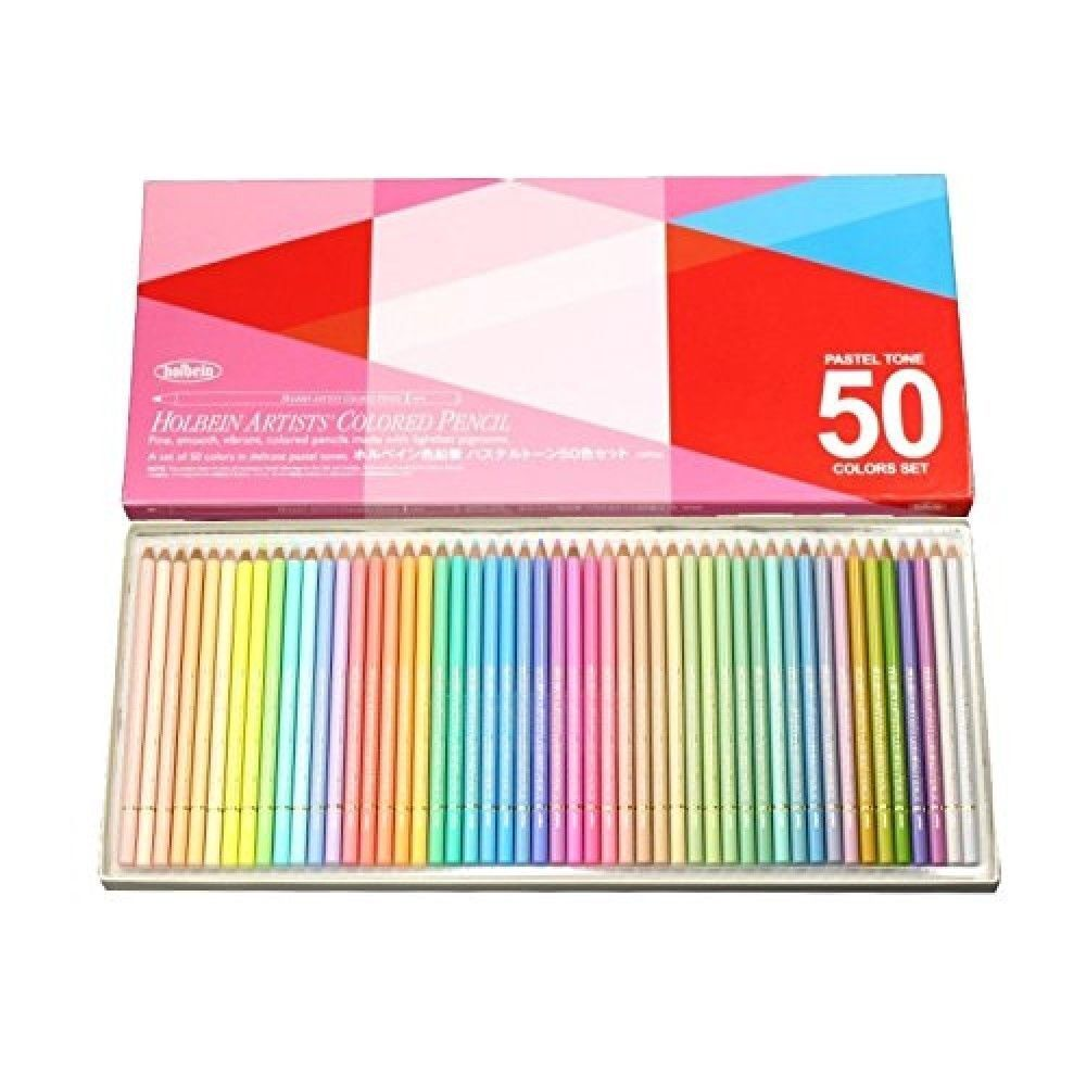 Holbein Artists Pastel Tone Colored Pencils 50 Colors Op936 From Colis Sakura Beauty Japan Free Ship 4900669209362 Ebay