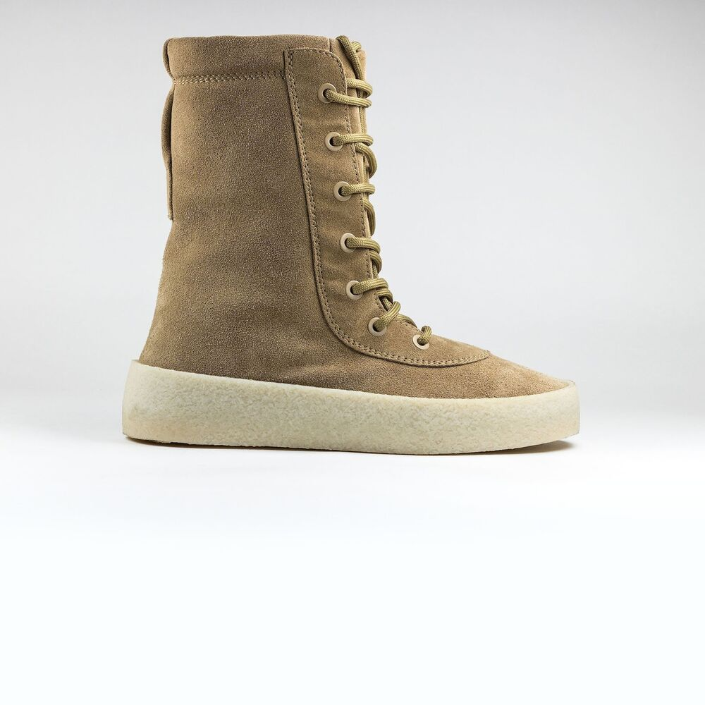 e339b4aa0 Details about Authentic New Yeezy Season 2 Crepe Boots Suede Tan