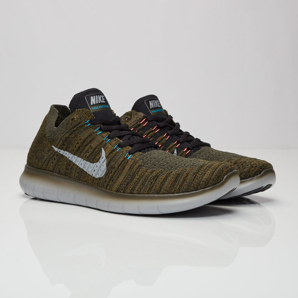 7008ac638f5d Details about Men s NIKE Free RN Flyknit RUNNING Shoes Size 8.5-13 Khaki  Green (831069 301)