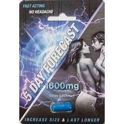 Kyпить 5 Day Forecast 1600 mg Male Sexual Enhancement Supplement Authentic pill на еВаy.соm
