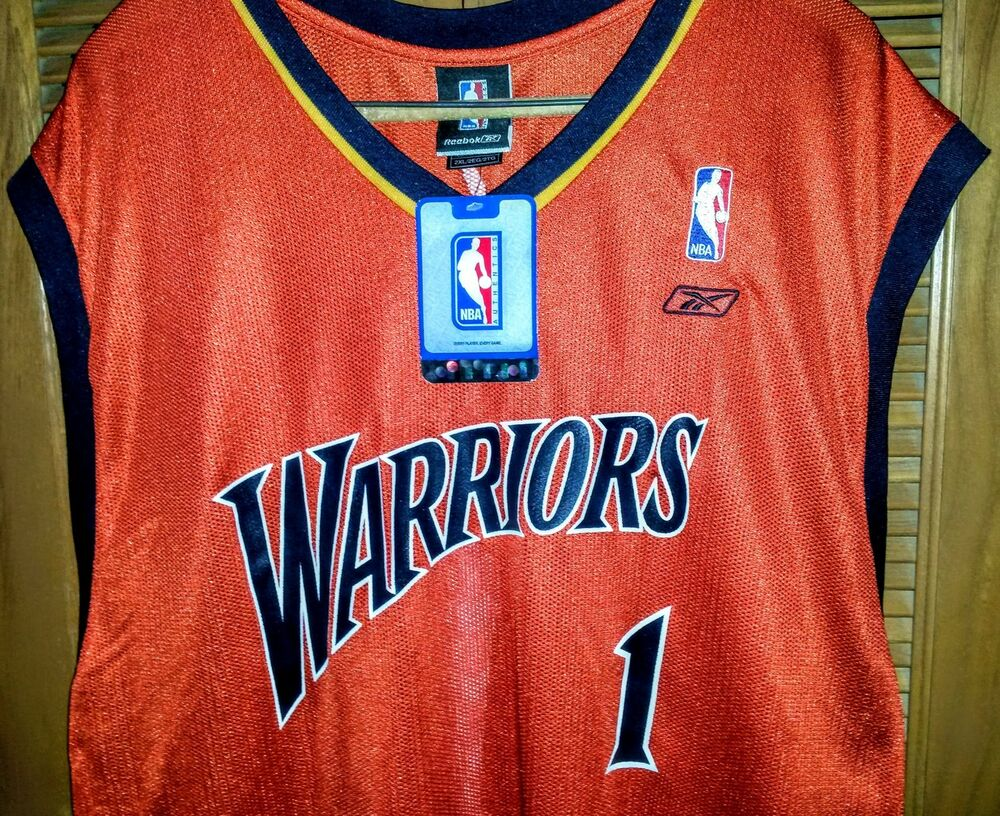JACKSON  1 NBA JERSEY Reebok Authentics SIZE 2XL GOLDEN STATE WARRIORS NWT   6916cf580