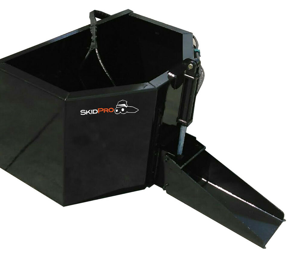 Hydraulic Concrete Bucket Skid Steer Loader Attachment