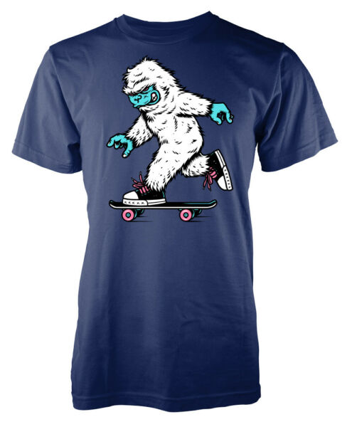 Snow Boarding Yeti abominable snowman monster kids t-shirt