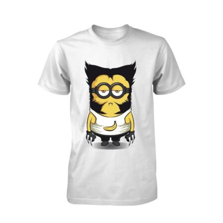 img-BNWT MINIONWOLVE COMEDY MASH UP BANANA FUNNY ADULT T SHIRT S-XXL