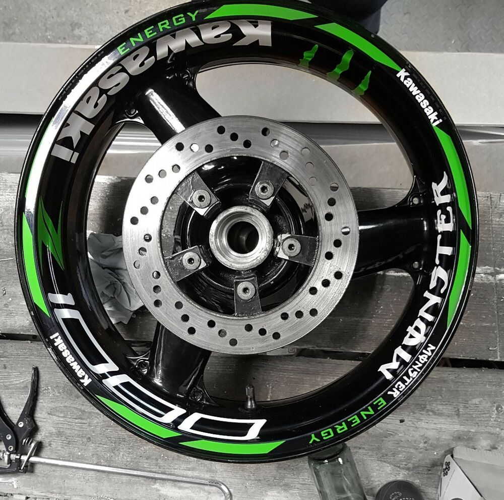 Z1000 Z600 Z750 Z900 Z800 Zxr 636 Monster Energy Wheel