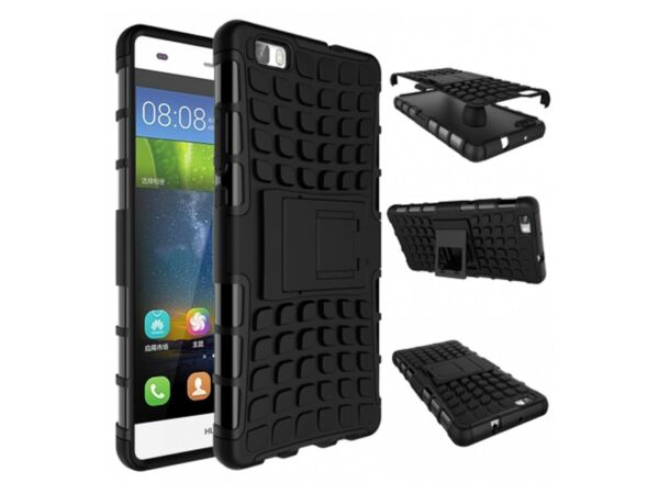 Shockproof Armour Hybrid Gorilla Stand Case Cover for Huawei P8 Lite 2017 & 2016