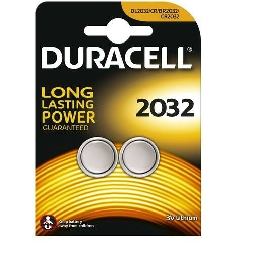 Lot de  2 Piles CR2032 DURACELL bouton Lithium 3V CR 2032 DLC 2026