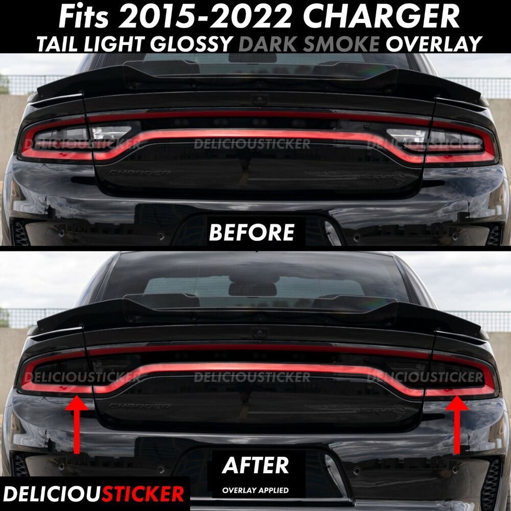 For 2015 2019 Dodge Charger Tail Light Smoke Rear Precut