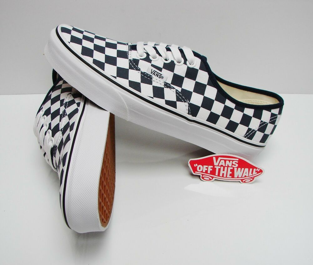 d05bc0b456 Details about Vans Authentic Checkerboard Dress Blues True White  VN0A2Z5IKLS Men s Size  6.5